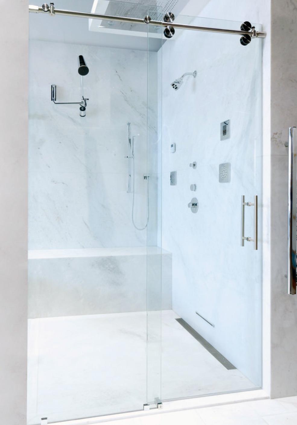 Palm Springs Shower Door – Frameless Sliding and Swinging Doors on